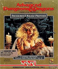 Box cover for Treasures of the Savage Frontier on the Commodore Amiga.