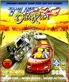 Box cover for Turbo Out Run on the Commodore Amiga.