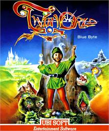 Box cover for TwinWorld: Land of Vision on the Commodore Amiga.