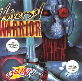 Box cover for Universal Warrior on the Commodore Amiga.