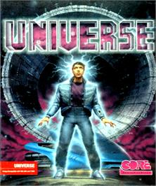 Box cover for Universe on the Commodore Amiga.