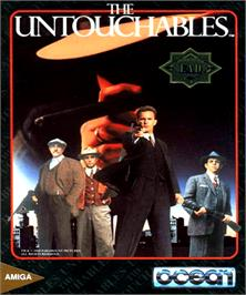 Box cover for Untouchables on the Commodore Amiga.