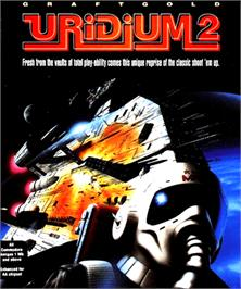 Box cover for Uridium 2 on the Commodore Amiga.