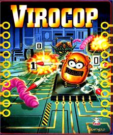 Box cover for Virocop on the Commodore Amiga.
