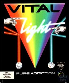 Box cover for Vital Light on the Commodore Amiga.