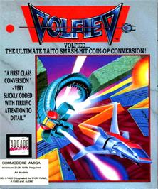 Box cover for Volfied on the Commodore Amiga.