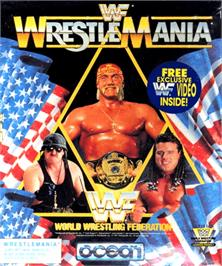 Box cover for WWF Wrestlemania on the Commodore Amiga.