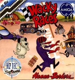 Box cover for Wacky Races on the Commodore Amiga.