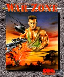 Box cover for War Zone on the Commodore Amiga.