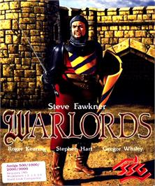 Box cover for Warlords on the Commodore Amiga.