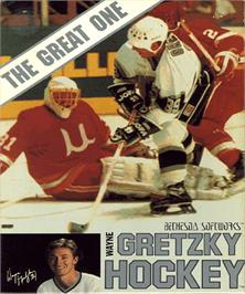 Box cover for Wayne Gretzky Hockey on the Commodore Amiga.