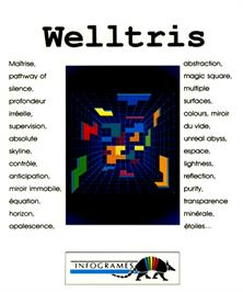 Box cover for Welltris on the Commodore Amiga.