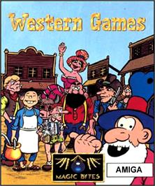 Box cover for Western Games on the Commodore Amiga.