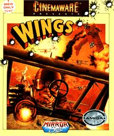 Box cover for Wings on the Commodore Amiga.