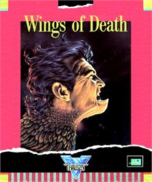 Box cover for Wings of Death on the Commodore Amiga.
