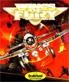 Box cover for Wings of Fury on the Commodore Amiga.
