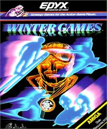 Box cover for Winter Games on the Commodore Amiga.