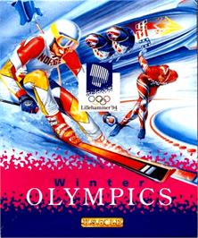 Box cover for Winter Olympics: Lillehammer '94 on the Commodore Amiga.