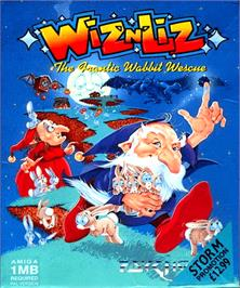 Box cover for Wiz 'n' Liz: The Frantic Wabbit Wescue on the Commodore Amiga.