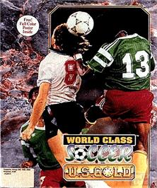 Box cover for World Class Soccer on the Commodore Amiga.