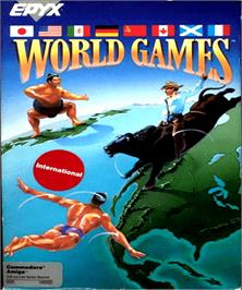 Box cover for World Games on the Commodore Amiga.