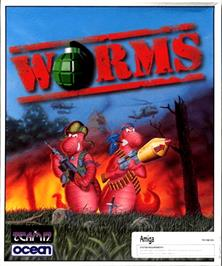Box cover for Worms on the Commodore Amiga.