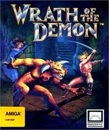Box cover for Wrath of the Demon on the Commodore Amiga.