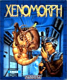 Box cover for Xenomorph on the Commodore Amiga.