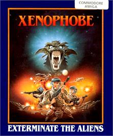 Box cover for Xenophobe on the Commodore Amiga.