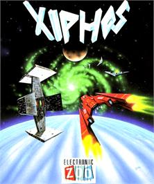 Box cover for Xiphos on the Commodore Amiga.