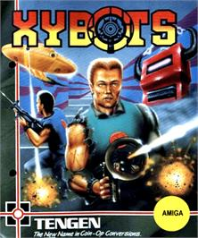 Box cover for Xybots on the Commodore Amiga.