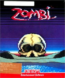 Box cover for Zombi on the Commodore Amiga.