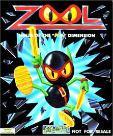 Box cover for Zool on the Commodore Amiga.