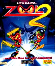 Box cover for Zool 2 on the Commodore Amiga.