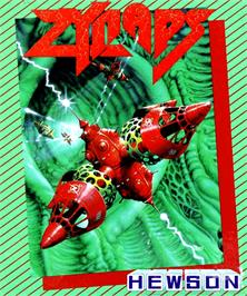 Box cover for Zynaps on the Commodore Amiga.