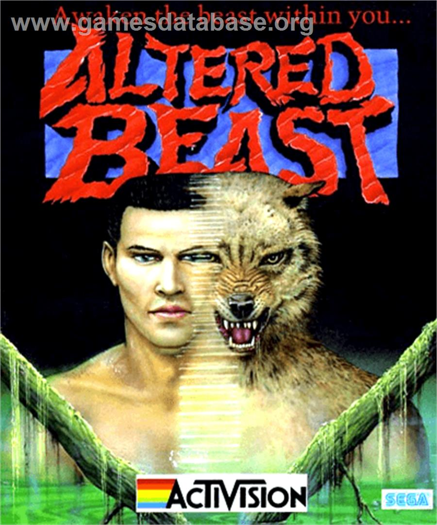 Box cover for Altered Beast on the Commodore Amiga.