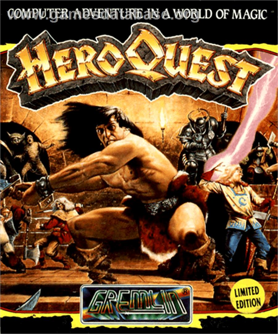 Hero Quest: Return of the Witch Lord - Commodore Amiga - Artwork - Box