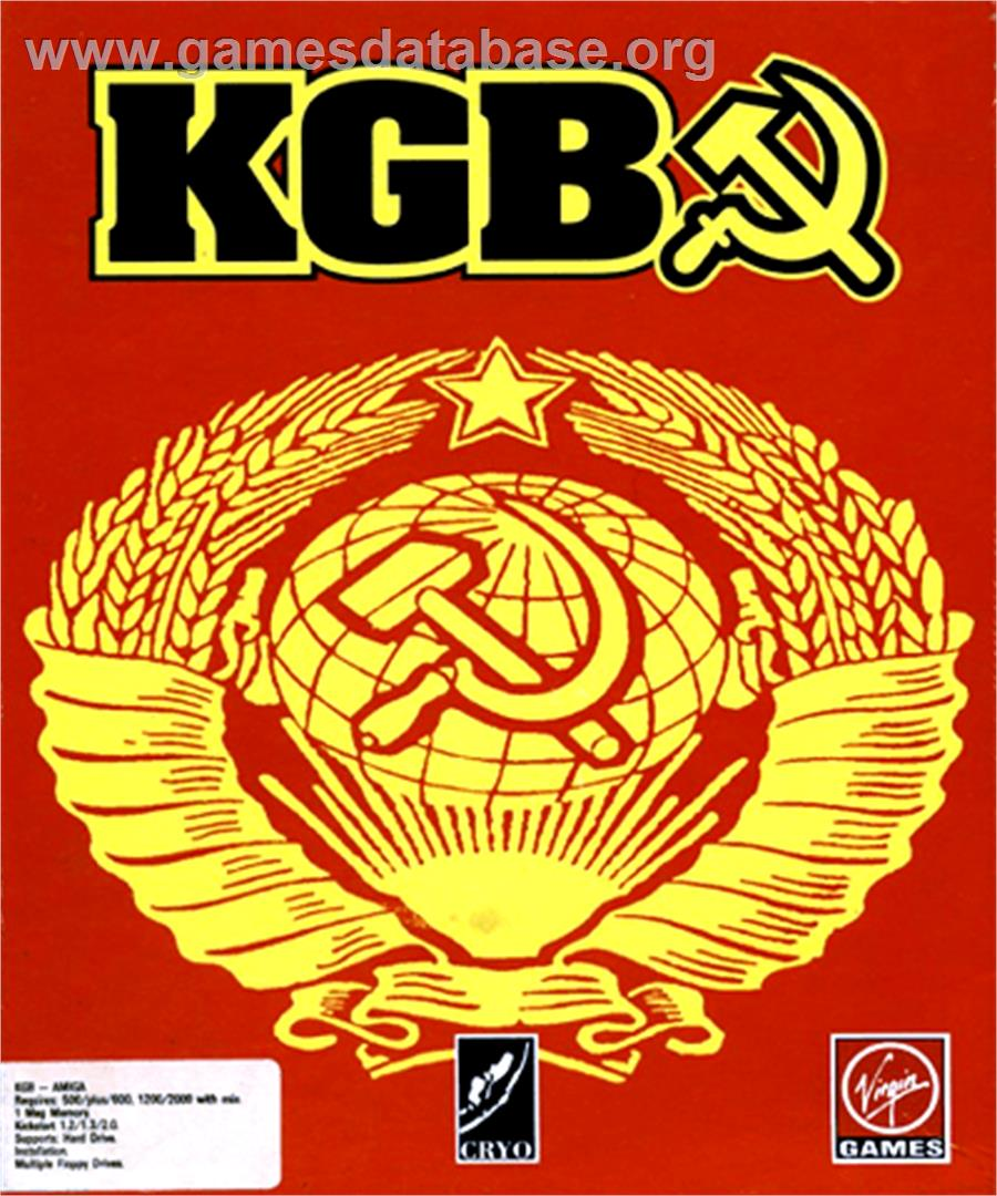 KGB - Commodore Amiga - Artwork - Box
