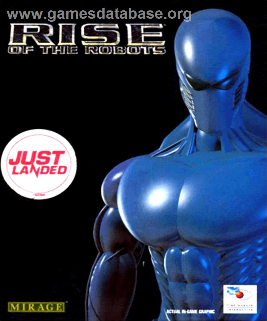 Box cover for Rise of the Robots on the Commodore Amiga.