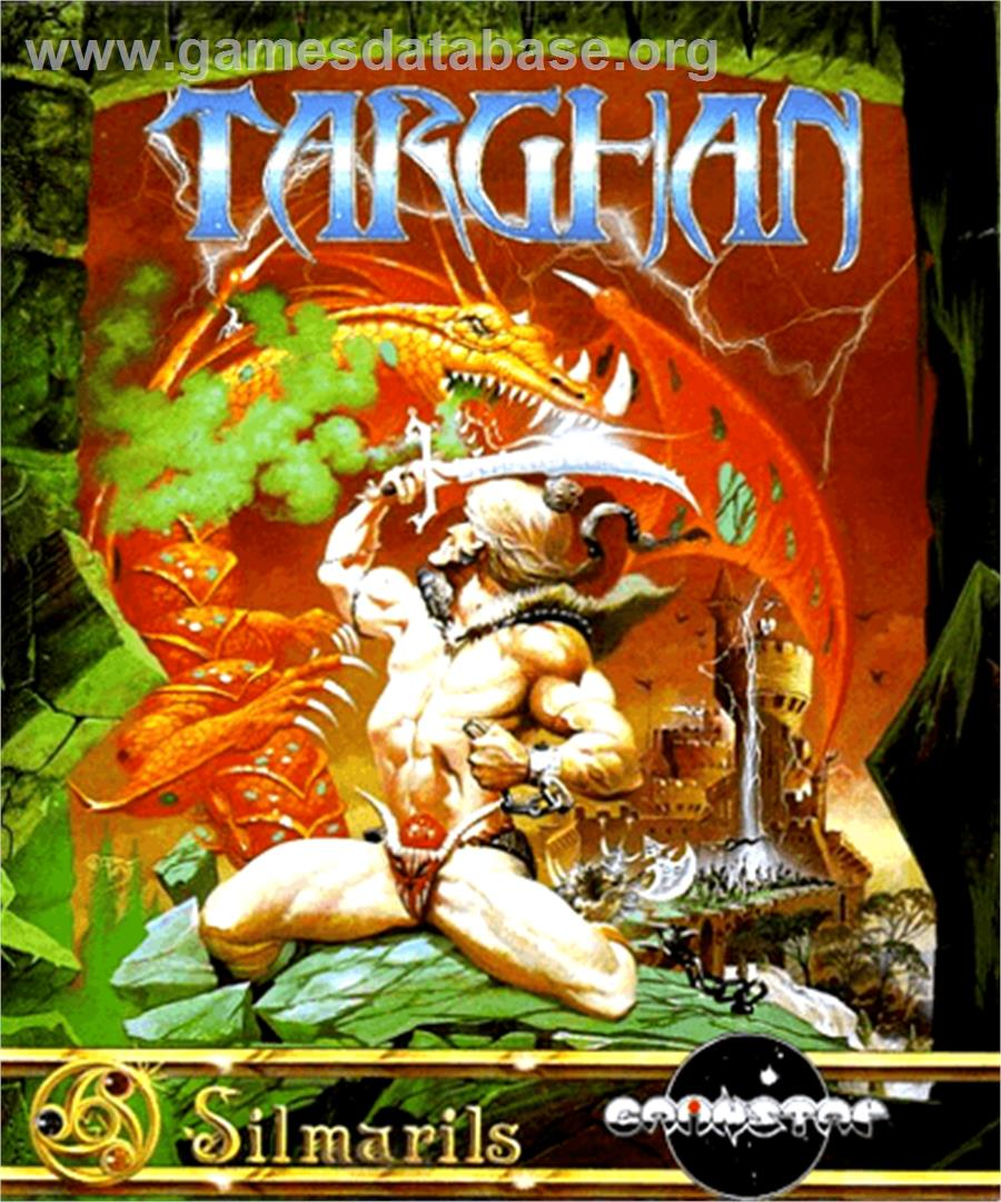 Box cover for Targhan on the Commodore Amiga.
