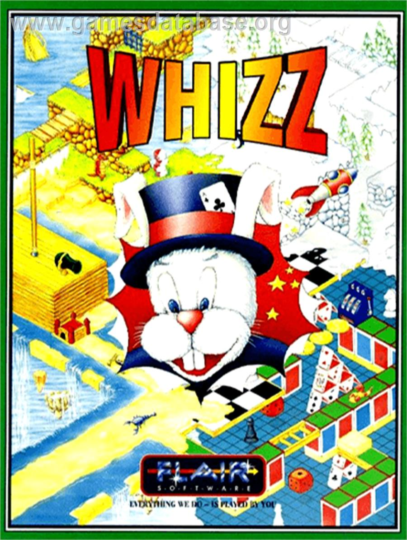 Box cover for Whizz on the Commodore Amiga.