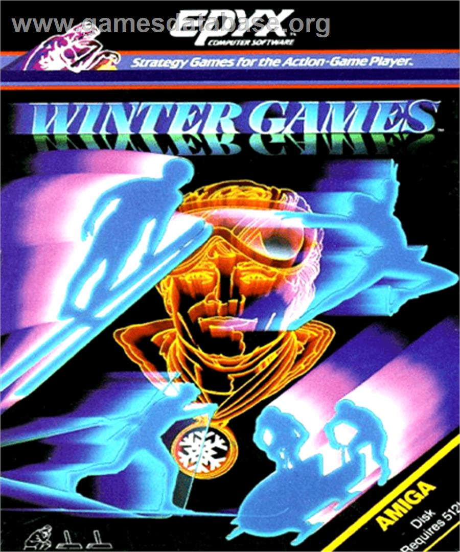 Winter Games - Commodore Amiga - Artwork - Box