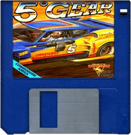Cartridge artwork for 5th Gear on the Commodore Amiga.