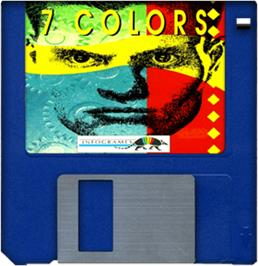 Cartridge artwork for 7 Colors on the Commodore Amiga.