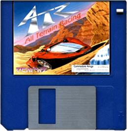 Cartridge artwork for ATR: All Terrain Racing on the Commodore Amiga.