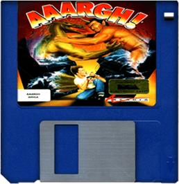 Cartridge artwork for Aaargh on the Commodore Amiga.