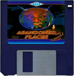 Cartridge artwork for Abandoned Places 2 on the Commodore Amiga.