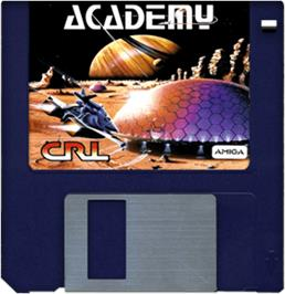 Cartridge artwork for Academy: Tau Ceti 2 on the Commodore Amiga.