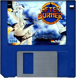 Cartridge artwork for After Burner on the Commodore Amiga.