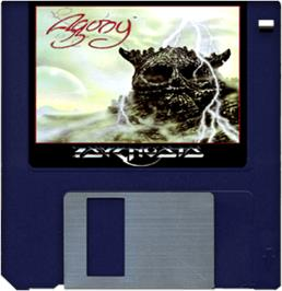 Cartridge artwork for Agony on the Commodore Amiga.